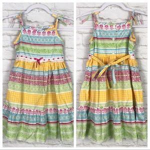 Blueberi Boulevard Paisley Striped Summer Dress 6X